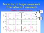 production of tongue movements from inferred l commands2