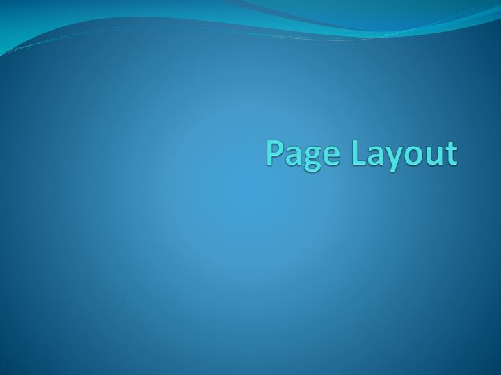page layout n.