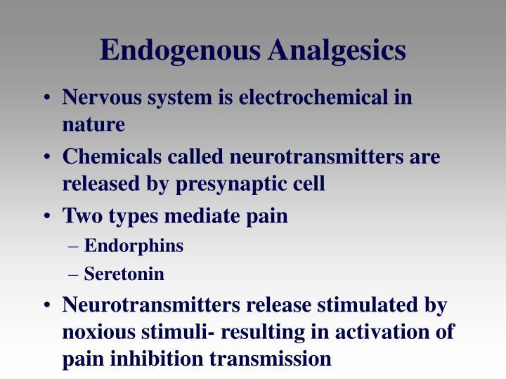 Endogenous Analgesics