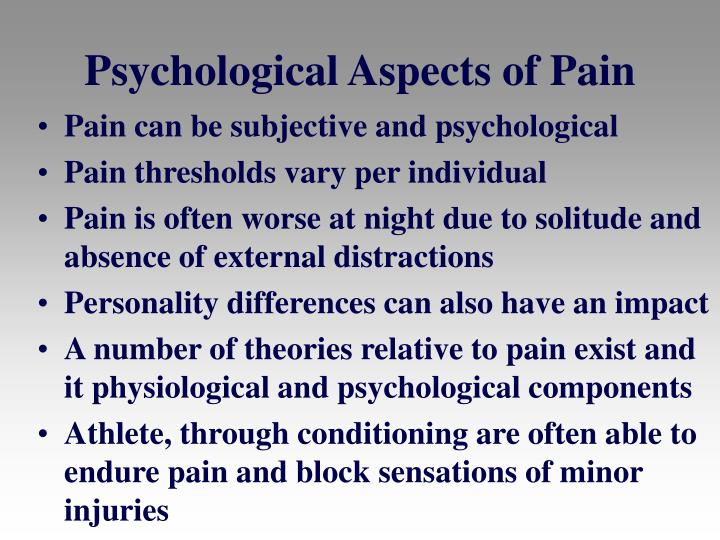 Psychological Aspects of Pain