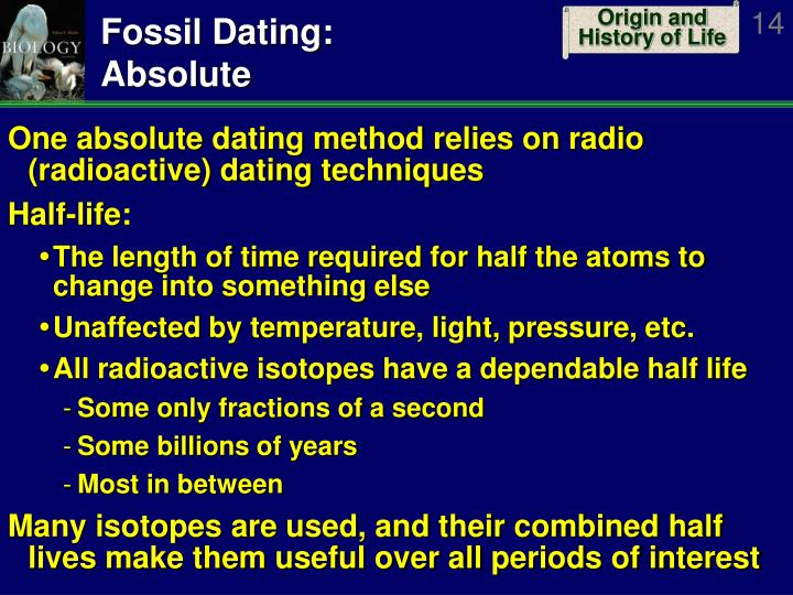 Radio dating techniques