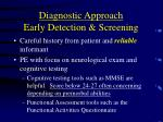 diagnostic approach early detection screening