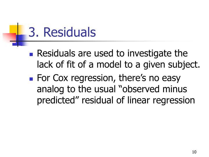 3. Residuals