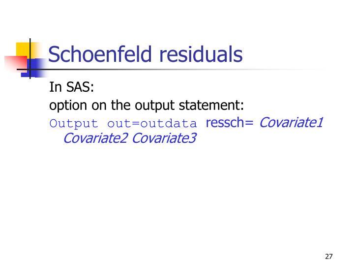 Schoenfeld residuals