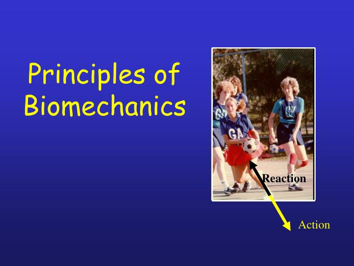 principles of biomechanics n.
