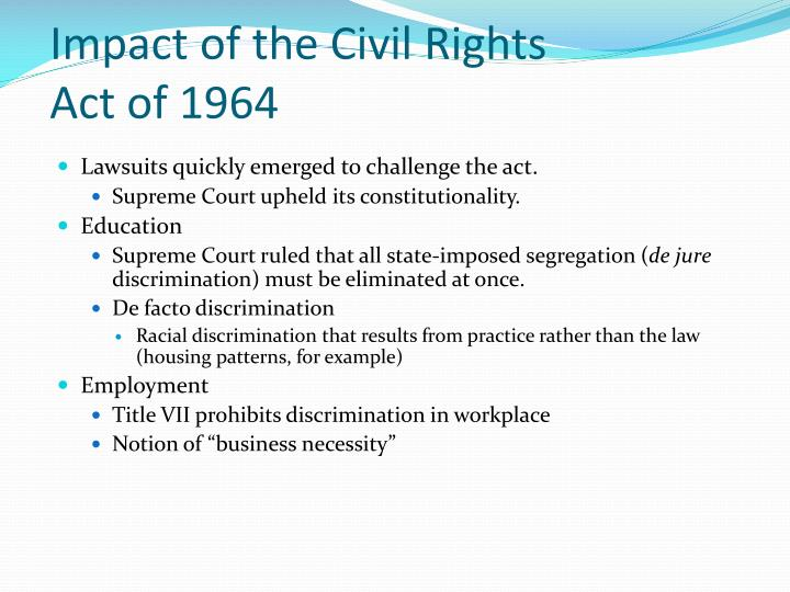 Impact of the Civil Rights Act of 1964