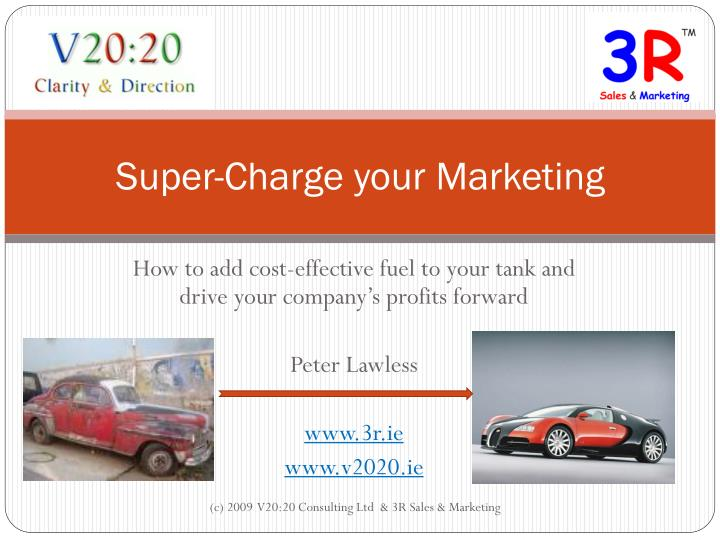 super charge your marketing n.