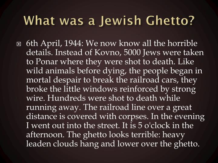 What was a jewish ghetto1