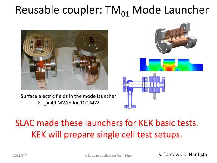 Reusable coupler: TM