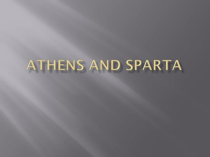 athens and sparta n.