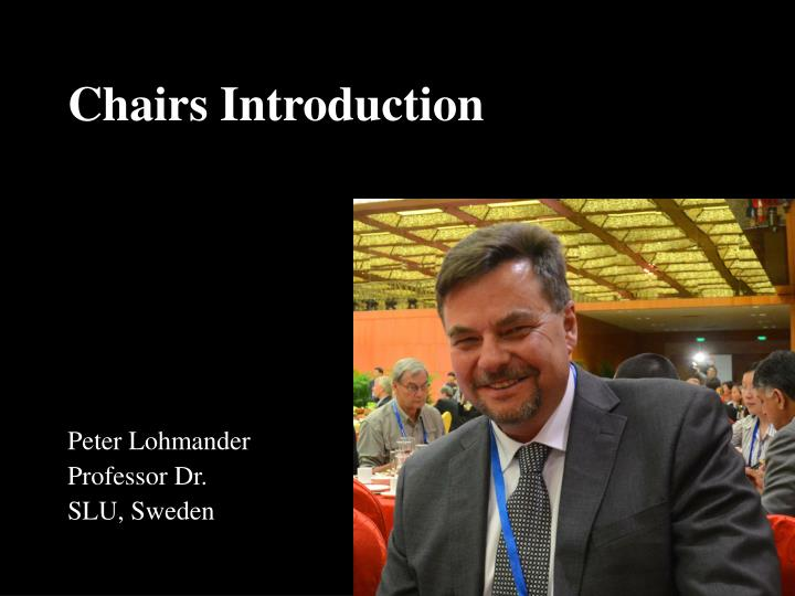 Chairs introduction