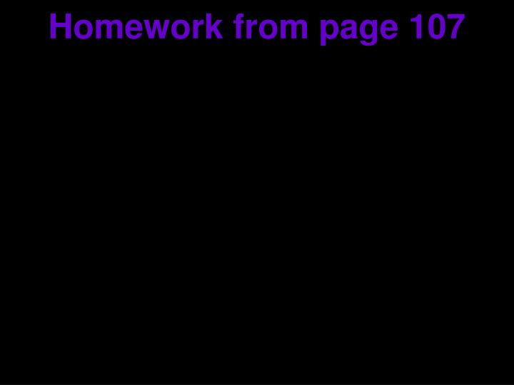 homework from page 107 n.