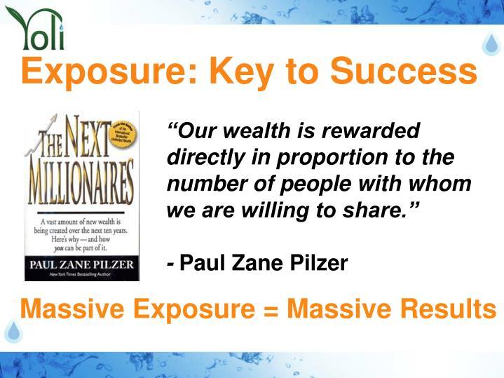 Exposure: Key to Success