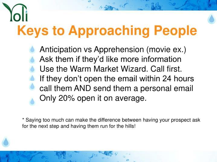 Keys to Approaching People