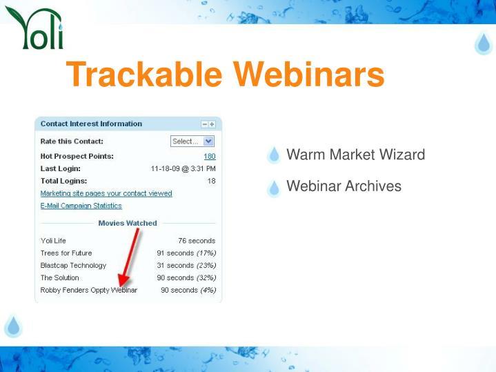 Trackable Webinars