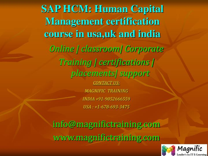 sap hcm human capital management certification course in usa uk and india n.