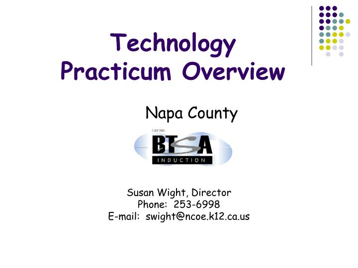 technology practicum overview n.