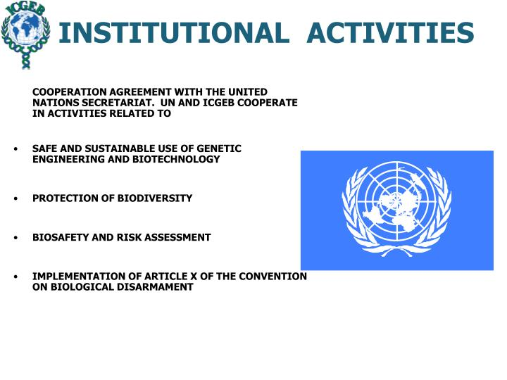 INSTITUTIONAL  ACTIVITIES
