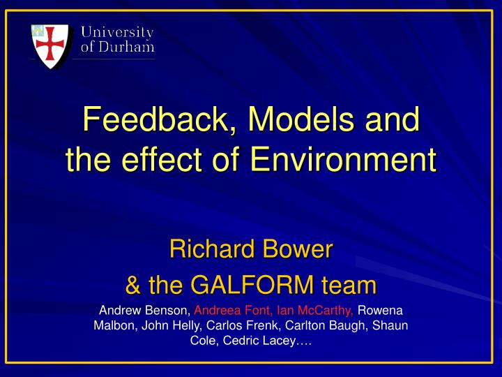 feedback models and the effect of environment n.