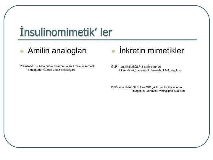 Amilin analogları