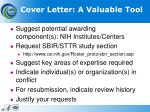 cover letter a valuable tool