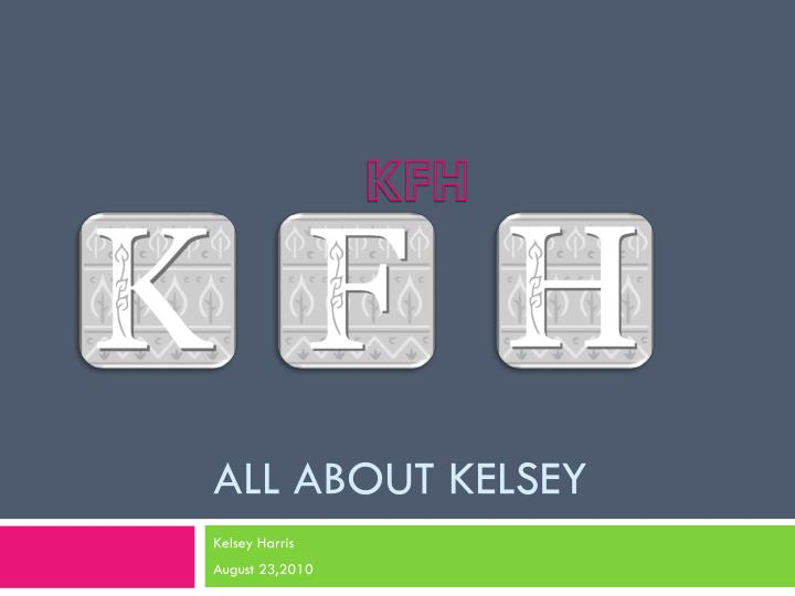 all about kelsey n.
