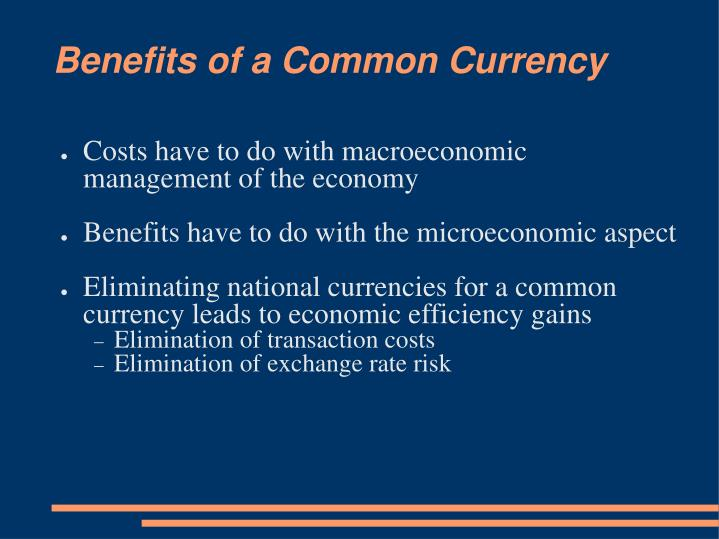 benefits of a common currency n.
