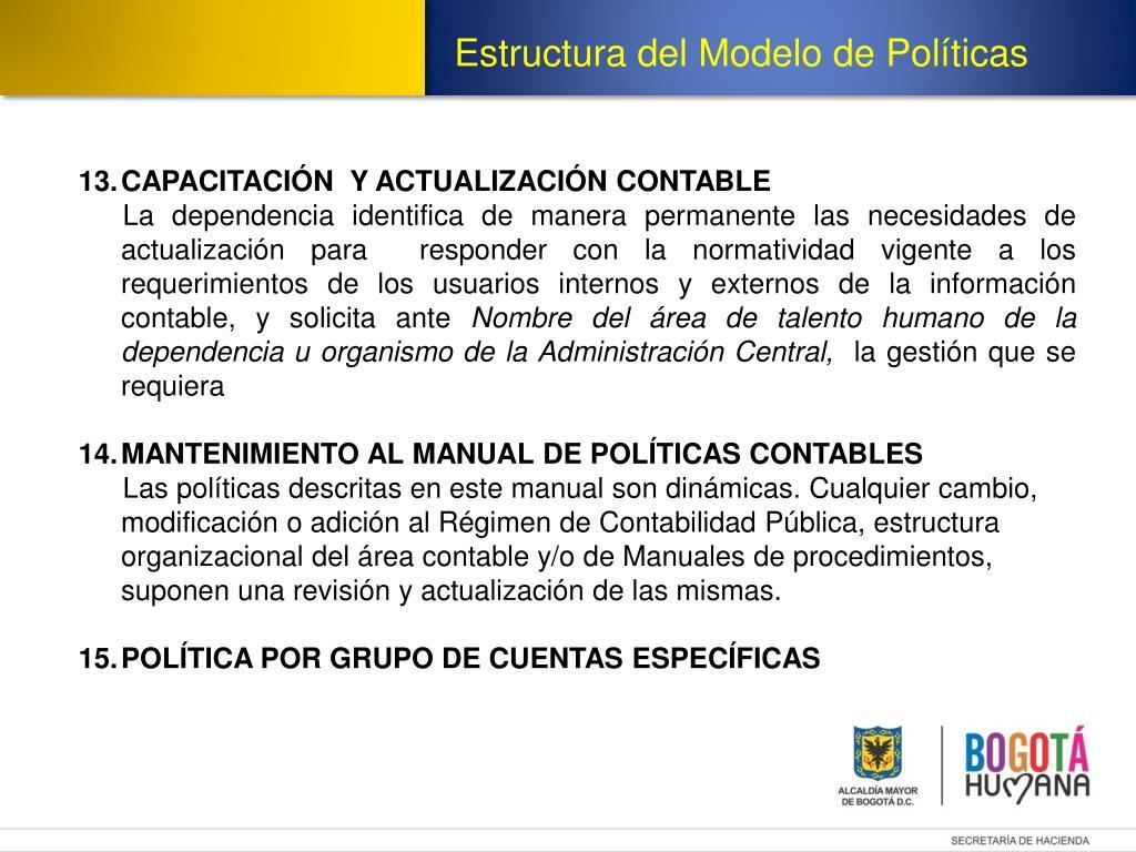 Ppt Modelo Politicas Contables Powerpoint Presentation
