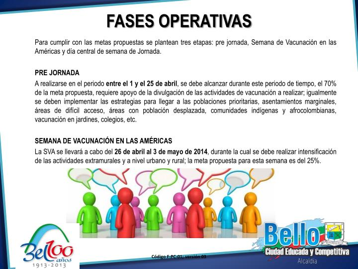 FASES OPERATIVAS