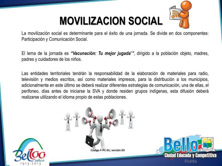 MOVILIZACION SOCIAL