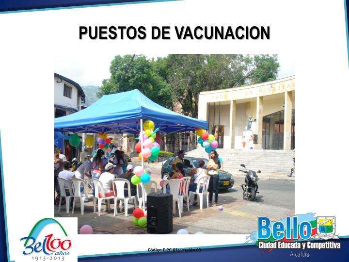 PUESTOS DE VACUNACION