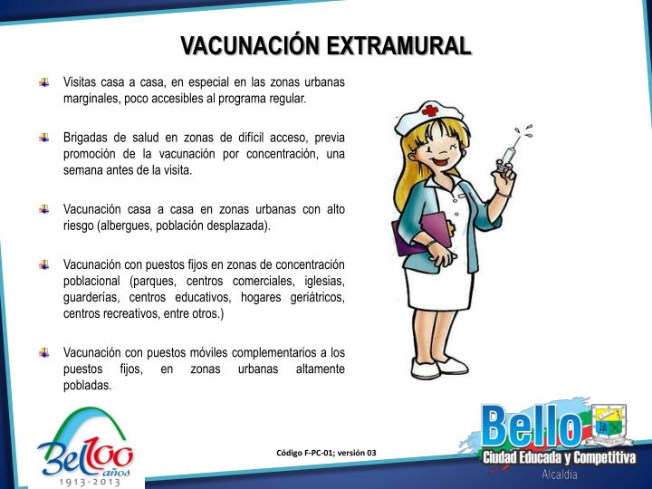 VACUNACIÓN EXTRAMURAL