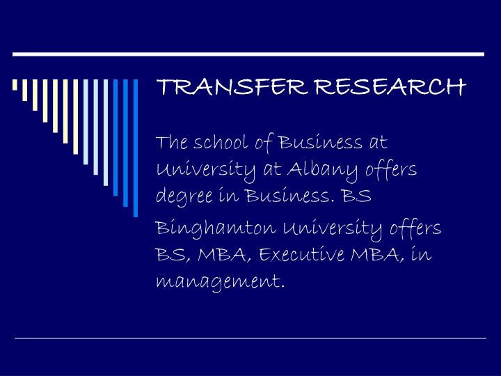 TRANSFER RESEARCH