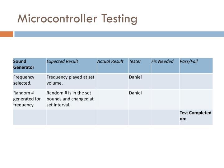 Microcontroller Testing
