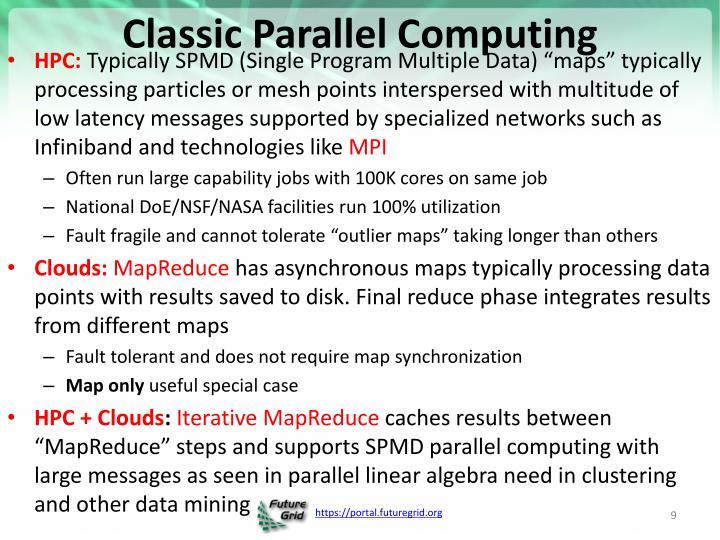 Classic Parallel Computing