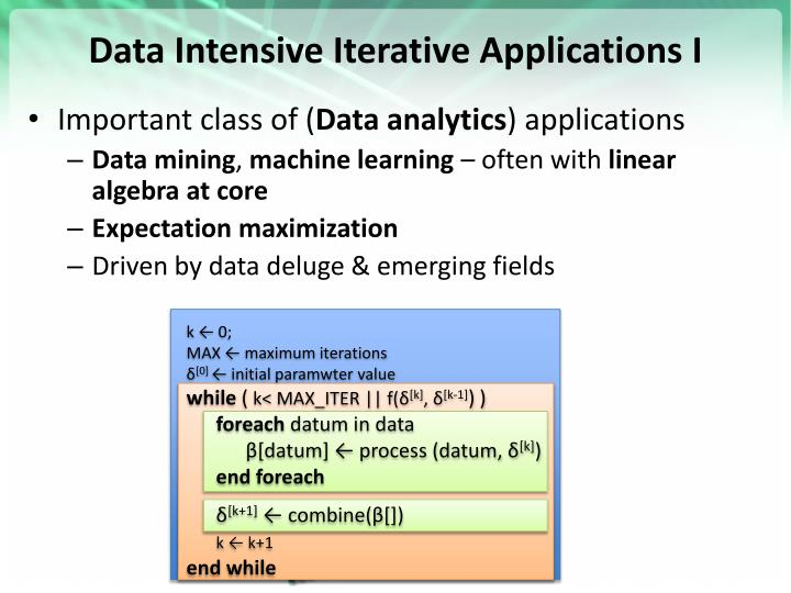 Data Intensive Iterative