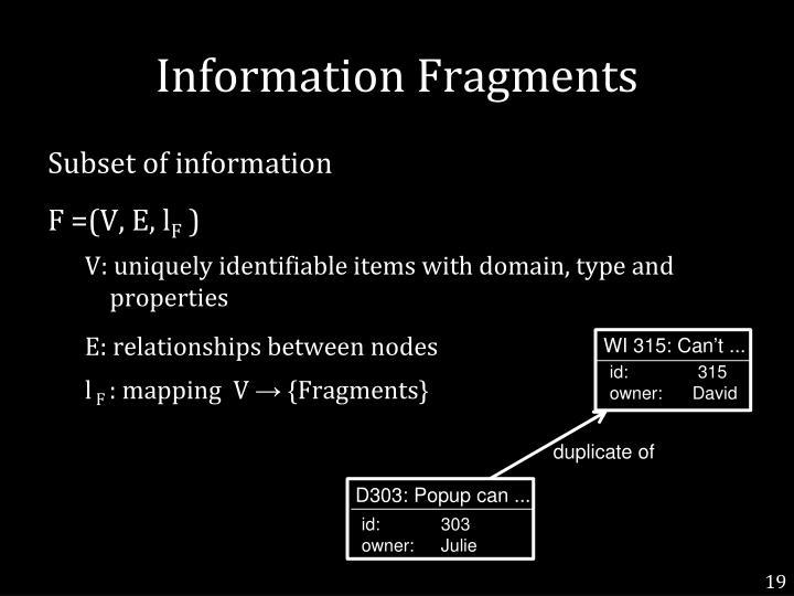 Information Fragments
