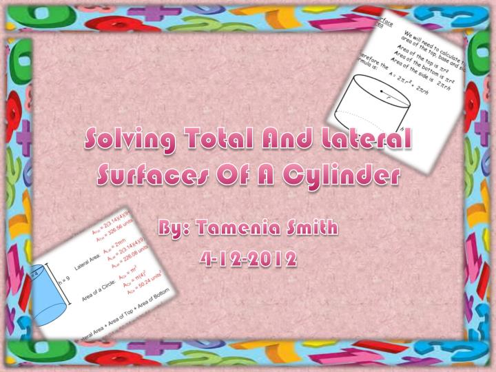 solving total and lateral surfaces of a cylinder n.