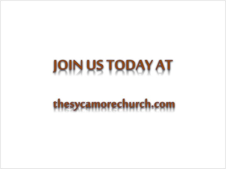 Join us today at