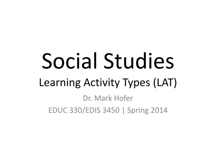 social studies learning activity types lat n.