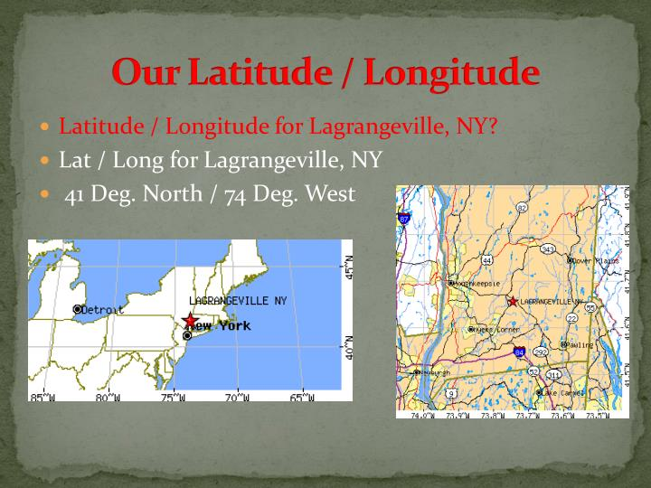 Our Latitude / Longitude