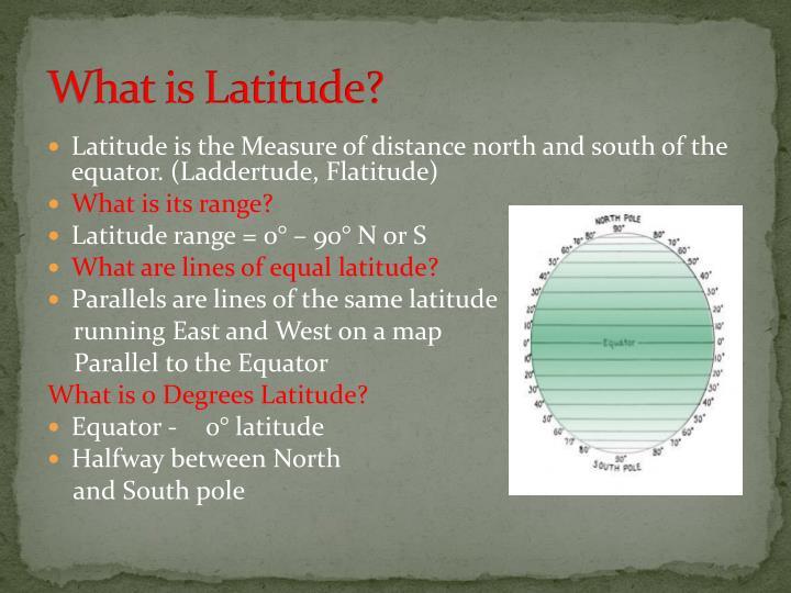 What is Latitude?