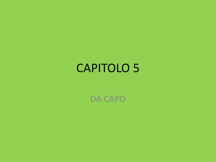 capitolo 5 n.