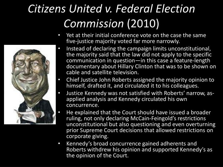 Citizens united v federal election commission 20101