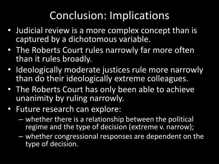 Conclusion: Implications