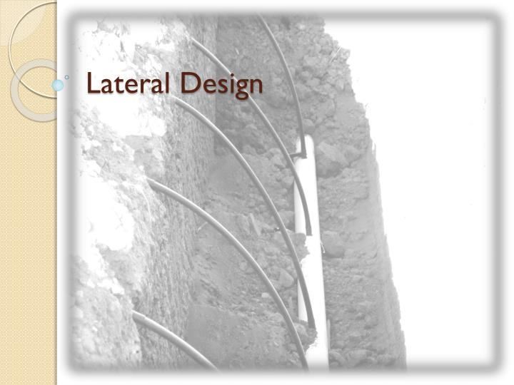 lateral design n.