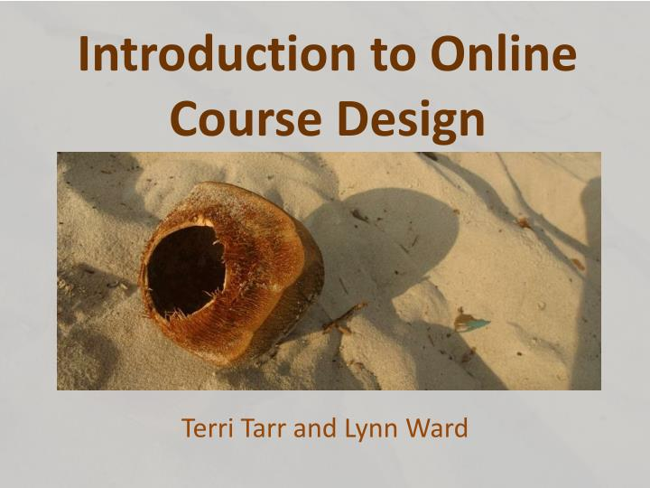 introduction to online course design n.