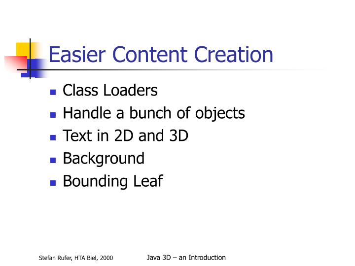 Easier Content Creation