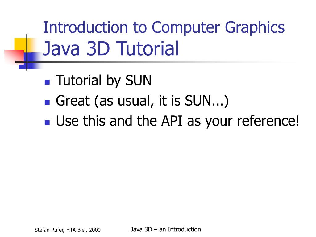 PPT - Java 3D Introduction PowerPoint Presentation - ID:2716323