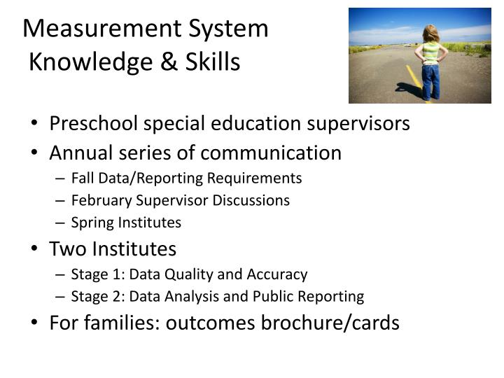 Preschool special education supervisors